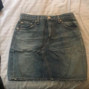 Rag and bone size 26 Jean skirt